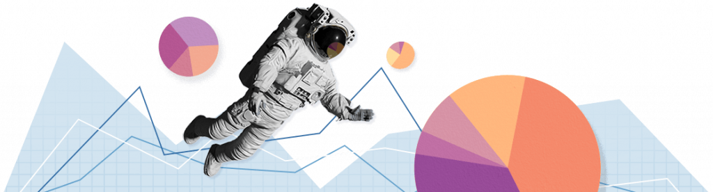 An astronaut amongst graphical items